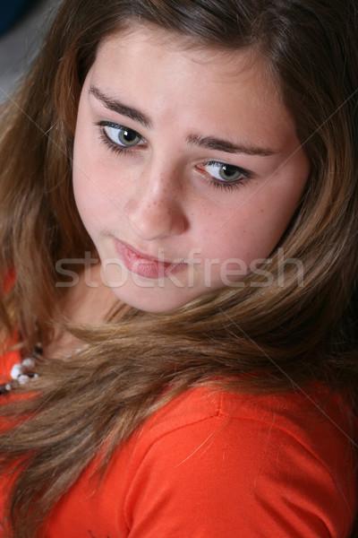 красивой подростков женщины кирпичная стена счастливым Сток-фото © vanessavr