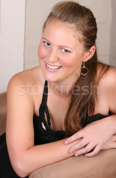 Jóvenes femenino adolescente luz nina Foto stock © vanessavr