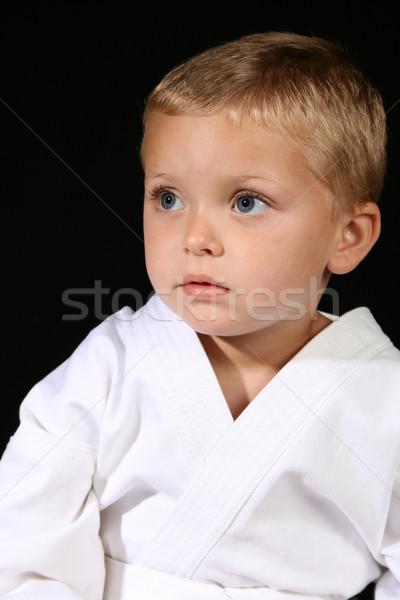 Karate jongen uniform zwarte Stockfoto © vanessavr