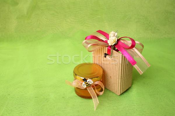 Honey Jar and Gift Bag Stock photo © vanessavr
