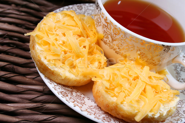 Tea korai étel háttér sajt reggeli Stock fotó © vanessavr