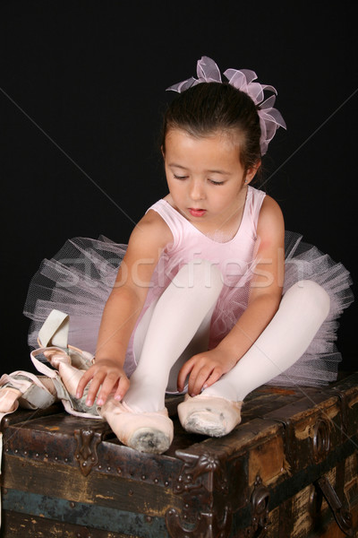 Ballet fille cute peu enfant chaussures Photo stock © vanessavr