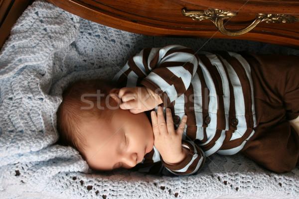 寝 赤ちゃん 1 月 古い 少年 ストックフォト © vanessavr