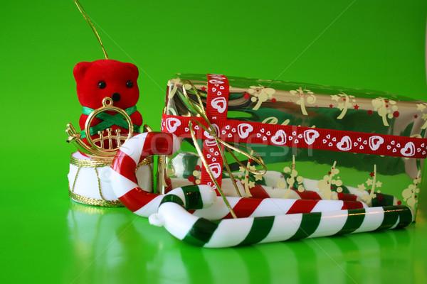 Рождества украшения зеленый красный белый празднования Сток-фото © vanessavr