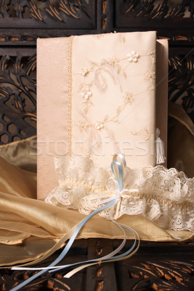 Jartiyer krem renkli takı kutu Stok fotoğraf © vanessavr