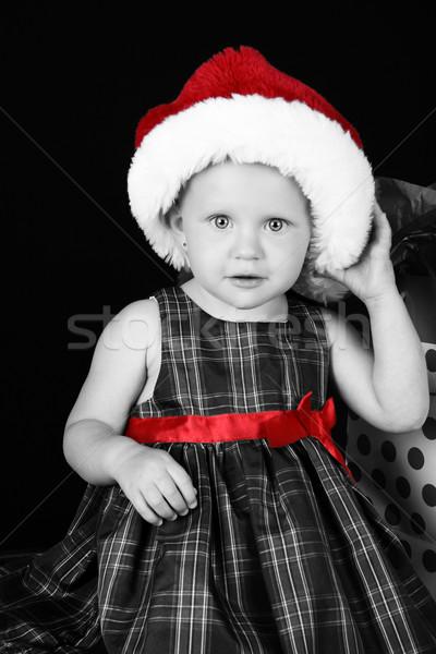 Рождества девушки Cute кавказский Сток-фото © vanessavr