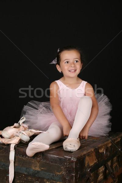 Brunette ballet girl Stock photo © vanessavr