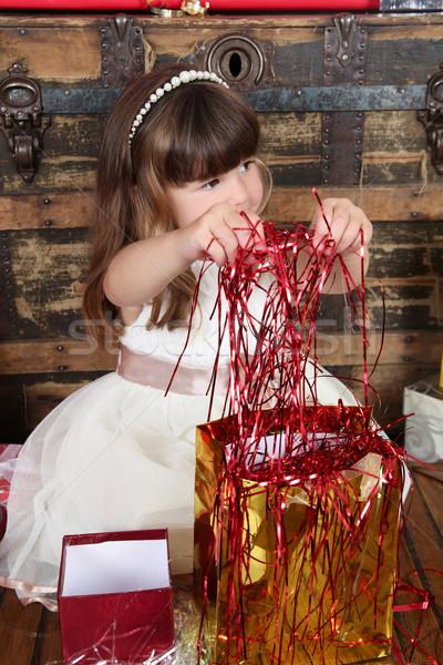 Christmas Girl Stock photo © vanessavr
