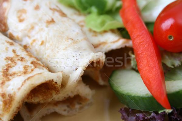 サラダ パンケーキ 新鮮な カラフル 食品 ストックフォト © vanessavr