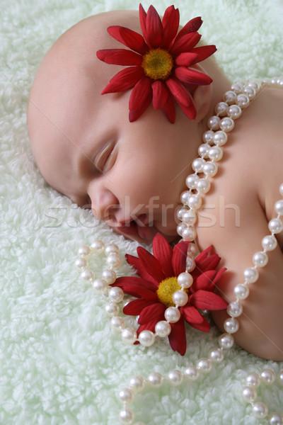 Stock photo: Newborn Girl