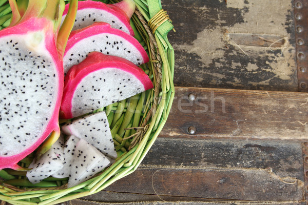 Pink pitahaya dragon Stock photo © vanessavr