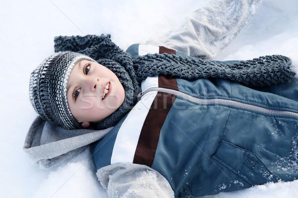 雪 再生 演奏 外 冷たい ストックフォト © vanessavr