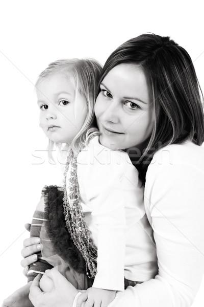 Madre hija hasta junto casa Foto stock © vanessavr