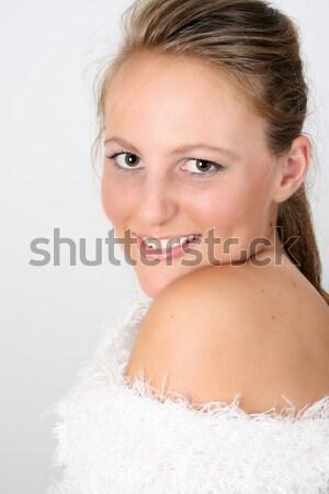 зима подростков красивой женщины модель Сток-фото © vanessavr