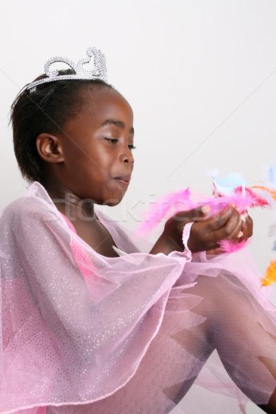 ピンク 妖精 若い女の子 着用 衣装 ストックフォト © vanessavr