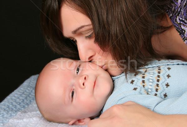 нет описание ребенка женщины поцелуй матери Сток-фото © vanessavr