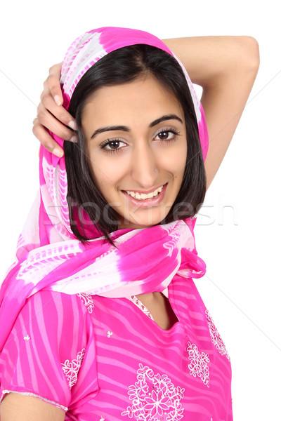 Indian teen mooie tiener Stockfoto © vanessavr