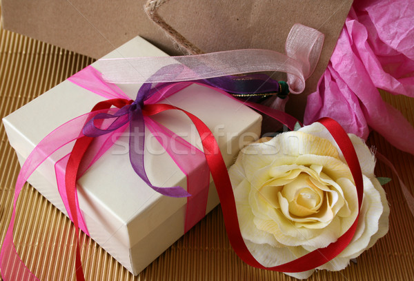 Gifts and Rose Stock photo © vanessavr