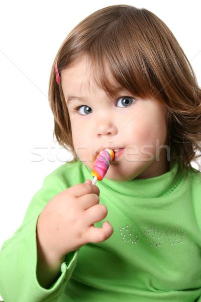 девушки круглолицый Щеки еды ребенка Сток-фото © vanessavr