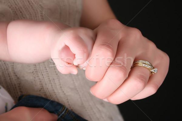 母親 赤ちゃん 白人 親指 ストックフォト © vanessavr