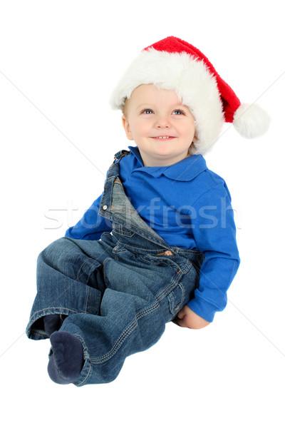 赤ちゃん 少年 かわいい 着用 クリスマス 帽子 ストックフォト © vanessavr