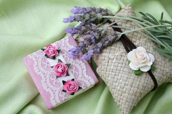 подарки мыло розовый сумку украшенный закрывается Сток-фото © vanessavr