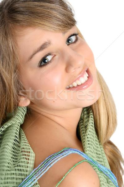 Hermosa adolescente femenino angelical cara Foto stock © vanessavr
