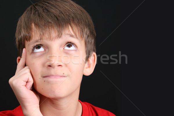 Toevallig teen grote ogen model Stockfoto © vanessavr