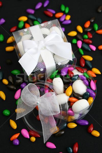 украшенный коробки пластиковых красочный конфеты подарок Сток-фото © vanessavr
