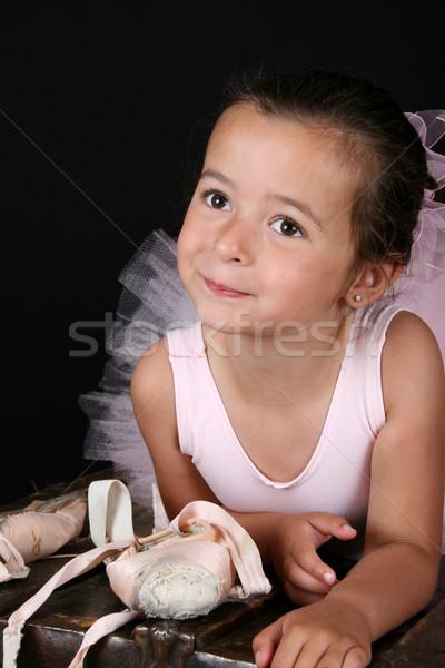 балет девушки Cute брюнетка костюм Сток-фото © vanessavr
