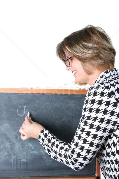 учитель дружественный школы белый мелом Сток-фото © vanessavr