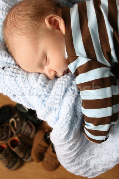 спальный ребенка месяц старые мальчика выдвижной ящик Сток-фото © vanessavr