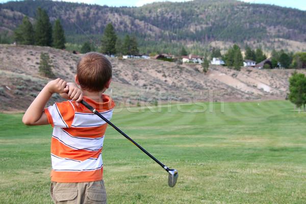 小さな ゴルファー 演奏 ショット ゴルフ スポーツ ストックフォト © vanessavr