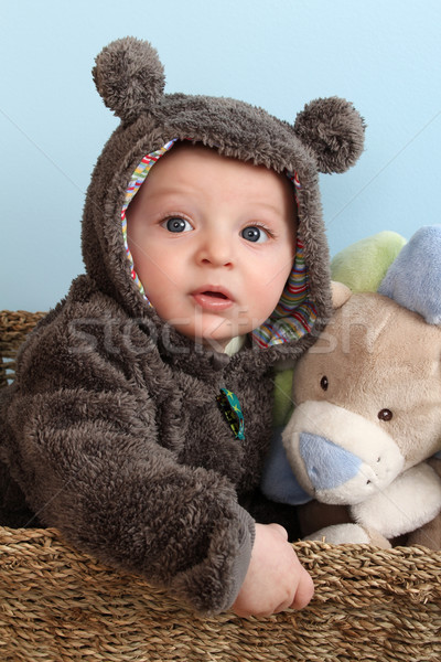 Stock photo: Bear Suit Baby