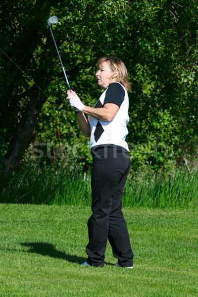 женщины гольфист играет железной выстрел Сток-фото © vanessavr