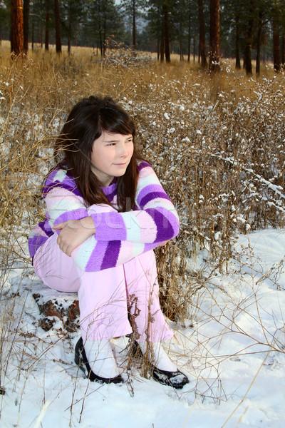 брюнетка подростков молодые области подростку Сток-фото © vanessavr