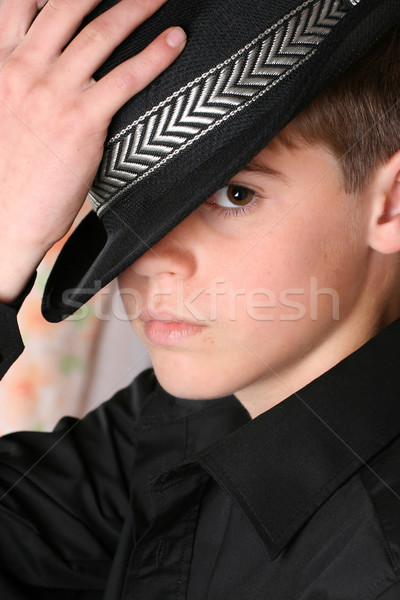 случайный подростков черный Hat Сток-фото © vanessavr