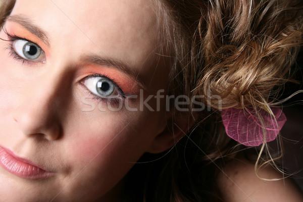 красивой цветок волос Сток-фото © vanessavr