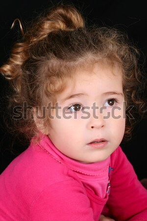 Belle fille belle jeune fille cheveux bouclés cute Photo stock © vanessavr