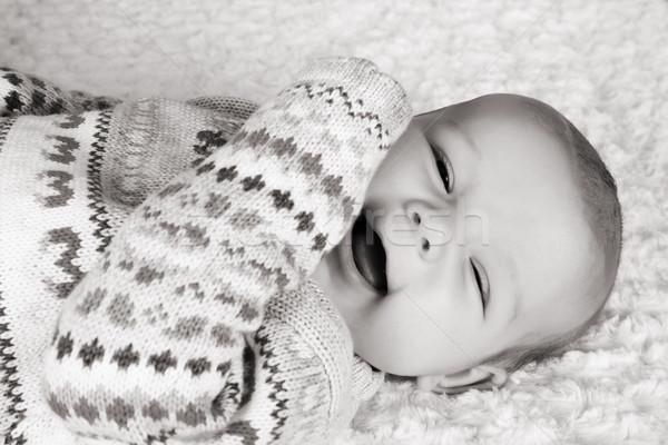 Cute два месяц старые улыбаясь Сток-фото © vanessavr