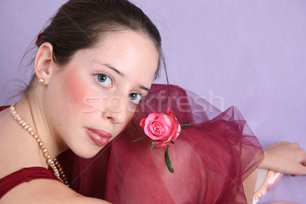 Ballet meisje balletdanser ogen Blauw Stockfoto © vanessavr