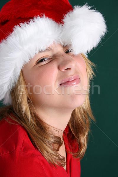 クリスマス 少女 美しい 代 着用 赤 ストックフォト © vanessavr