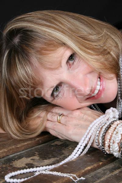 Blond female Stock photo © vanessavr
