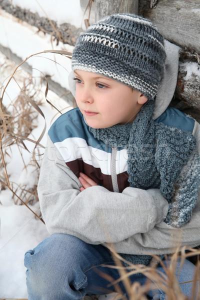снега играть играет за пределами холодно Сток-фото © vanessavr
