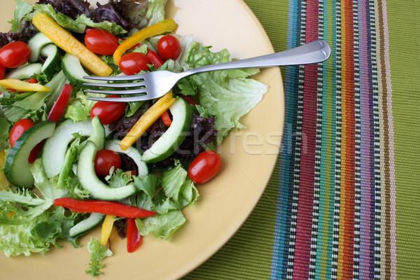 Салат свежие красочный продовольствие листьев красный Сток-фото © vanessavr