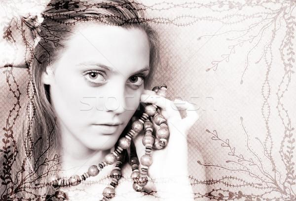 женщины модель красивой изображение границе Сток-фото © vanessavr