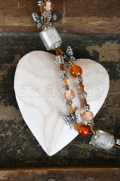 Heart and beads Stock photo © vanessavr