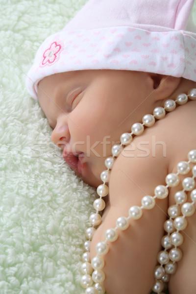 Sleeping Newborn Stock photo © vanessavr