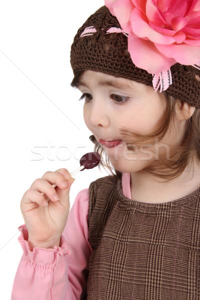 Eating lollipop Stock photo © vanessavr