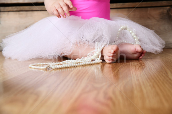 Baby ballerina feet Stock photo © vanessavr